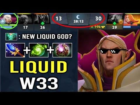 Liquid.w33 New Core Player for Team Liquid! Most Crazy Invoker Comeback Gameplay 7.22 Dota 2