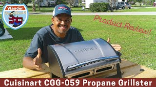 New Cuisinart Propane Grillster Gas Grill Product Review! Full Time RV Living in a Class C Motorhome