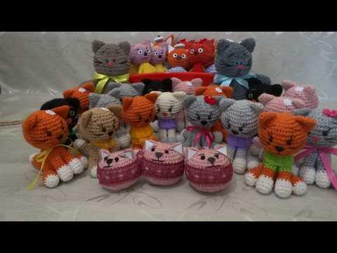 Коллекция вязанных котов