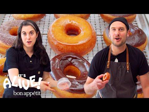 Brad and Claire Make Doughnuts Part 3: Redemption   It's Alive   Bon Appétit