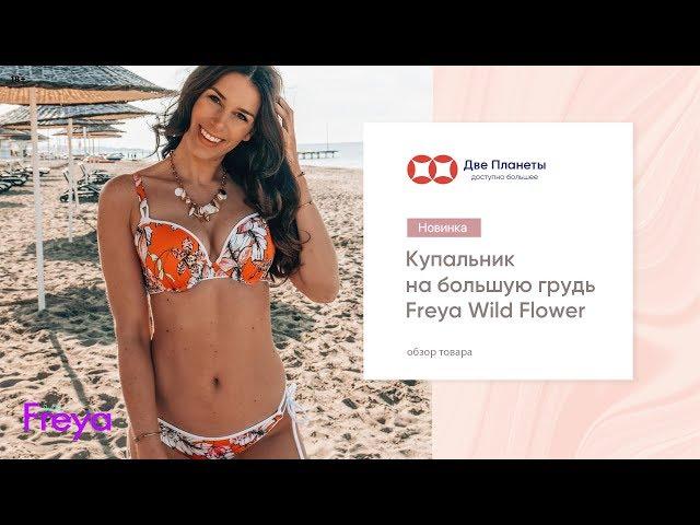 Видео Купальник (бюст) FREYA WILD FLOWER 5882, Коралловый