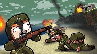 D-Day Invasion 1944 - WW2 Map Wars! (Minecraft)