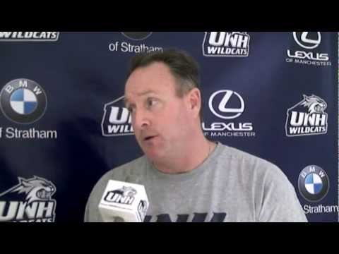UNH Men's Basketball: Bill Herrion interview on WBIN-TV (01/21/12)