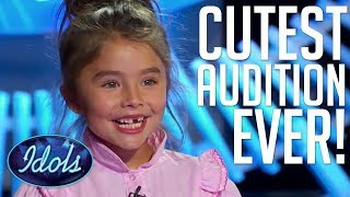 CUTEST AUDITION EVER! 7 Year Old Dyxie Auditions Before Layla Springs On American Idol 2018