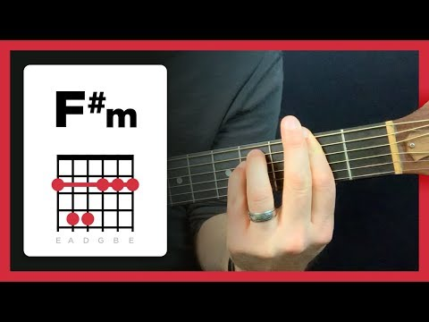 Learning to play F#m (F sharp minor chord)