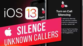 iOS 13: How to Turn On Silence Unknown Callers on iPhone | Stop Spam Calls