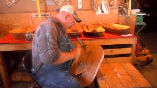 Dough Bowl Maker Tim Nester Demonstrates His Bowl Carving Technique