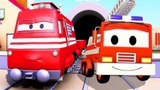 Xe cứu hỏa Frank- Xe lửa Troy ở thành phố xe 🚄