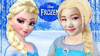 보람이 엘사 메이크업 받고 공주로 변신 했어요! 겨울왕국 페이스 페인팅 어린이 화장품 Kids Makeup FROZEN Elsa with Colours Paint