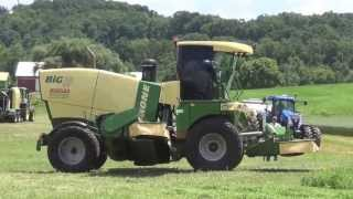 Krone Big M 420 at East Berlin Pa, Hay Day by Krone 6-19-2013
