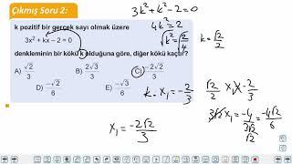 Eğitim Vadisi TYT Matematik 48.Föy İkinci Dereceden Bir Bilinmeyenli Denklemler 1 Konu Anlatım Videoları