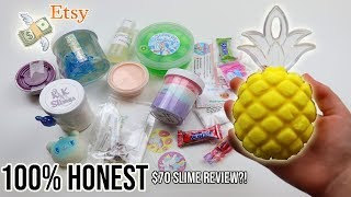 100% HONEST HUGE MOST CREATIVE AND CHEAP ETSY SLIME SHOPS REVIEW *PINEAPPLE, KIWI, + MORE??!!* $70