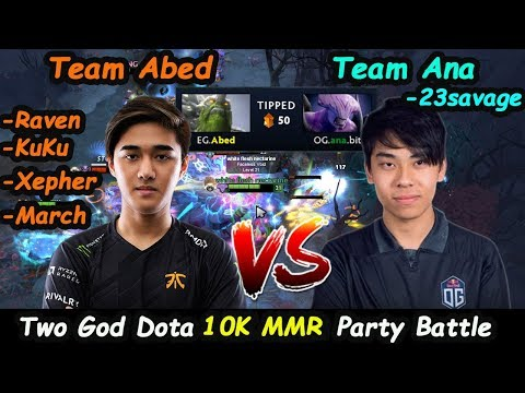 EG Abed [Tiny] + GeekFam vs OG Ana [FacelessVoid] 10K MMR Battle Party Ranked Epicgame Dota 2 7.22
