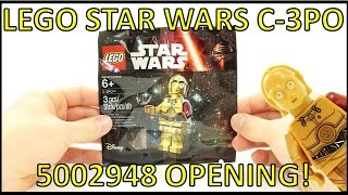 LEGO STAR WARS THE FORCE AWAKENS C-3PO MINIFIGURE POLYBAG 5002948 OPENING!