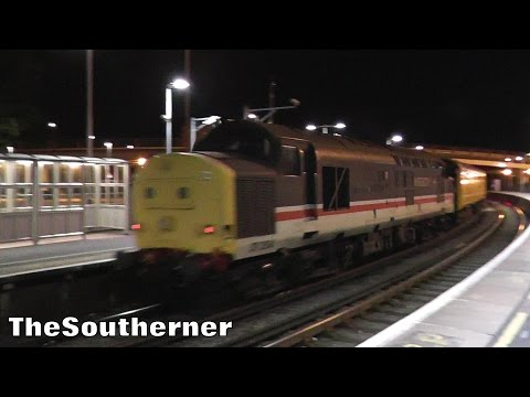 Intercity 37254 with Network Rail test train at Poole 17th A…