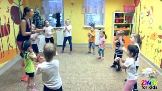 """Открытый урок Zumba kids в детском саду """"Лимпопо"""""""