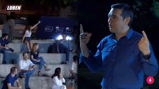Ο Τσίπρας λέει «Μητσοτάκης» και πέφτει μια ταμπέλα | Luben TV