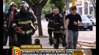 preview picture of video 'BOMBEROS DE MARCOS JUAREZ, PARTICIOAN EN OLIMPIADAS BOMBERILES NEW'