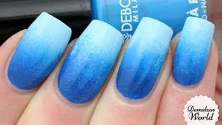 Blue Gradient Nail Art Tutorial (for Deborah Milano Beauty Club)
