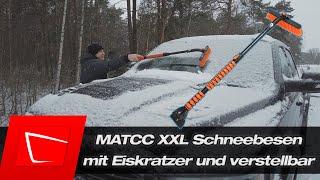 Diesen Schneebesen empfehle ich bei großen Autos! MATCC erweiterbarer Schneebesen mit Eiskratzer