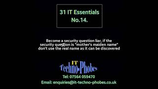 IT Techno-Phobes Limited Tip 14 – IT Support Services In Redditch