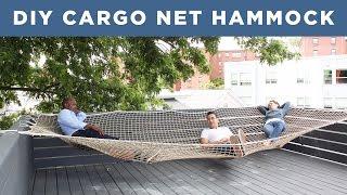 DIY Giant Hammock | Made From A Cargo Net