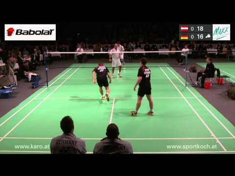 Badminton Länderspiel in Traun, 17.1.2012: Österreich-Deutschland, Herrendoppel