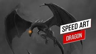 Dragon (Illustration/Photoshop) - Speed Drawing | Speed Art | Speed Painting