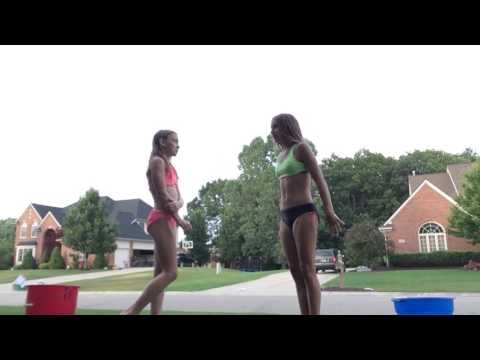 Water balloon question challenge - Hadley and Danielle show!