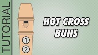 How to play Hot Cross Buns on the Recorder - Very Easy Tutorial