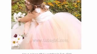 Flower Girl Tutus, Wedding Tutus For Flower Girls, Flower Girl Tutu Dresses