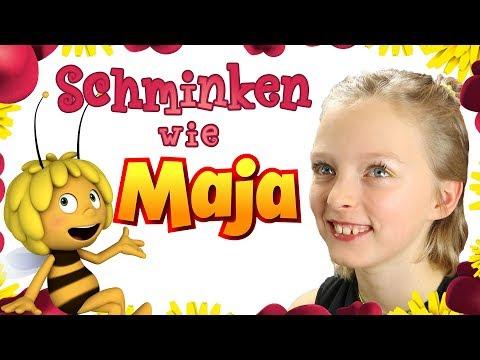 🌹🌻🍀🍄🌞 Schminken wie Maja - Die Biene Maja 🌹🌻🍀🍄🌞