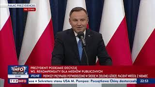 Konferencja prasowa prezydenta Andrzeja Dudy i premiera Mateusza Morawieckiego