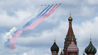 video: Watch:Russian military rehearse flypast over Moscow ahead of Victory Day parade