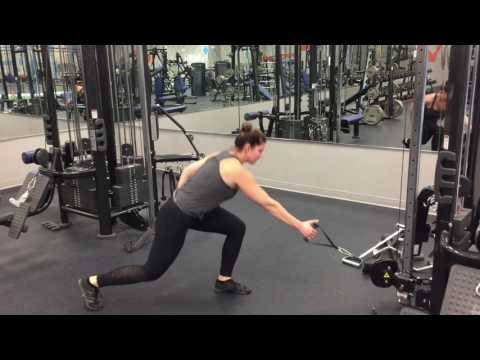 Cable Rear Lunge