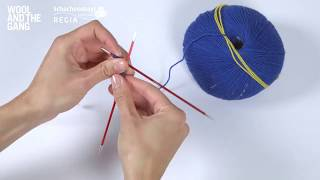 How to cast on using double pointed needles