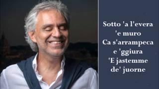 E Chiove - Andrea Bocelli - (Lyrics)