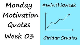 Top 10 Quotes | Monday Motivation Part - 3 | Transform Your Life | Giridar Studios