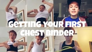 Getting a chest binder | Putting it on, where to get it, how to measure