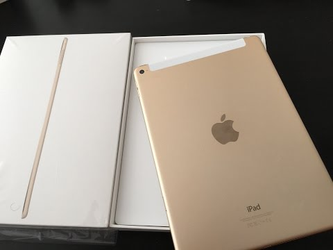 iPad Air 2 Unboxing and Quick Review AT&T T-Mobile Verizon Sprint Cellular Apple SIM Pay Gold Unlock