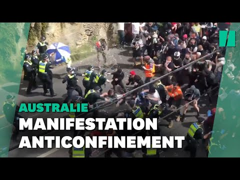 En Australie, une manifestation contre le confinement dégénère