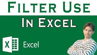 How To Use Filter Command In Microsoft Excel Tutorial In Urdu or Hindi