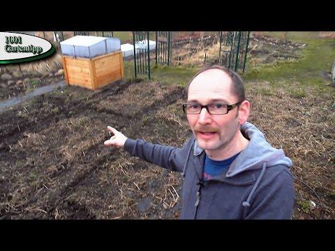 Gartenrundgang März 2015 Pferdemist, Hochbeet, Frühbeet und Gewächshaus