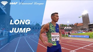 Sweden's Thobias Montler wins the men's Long Jump in Stockholm - IAAF Diamond League 2019