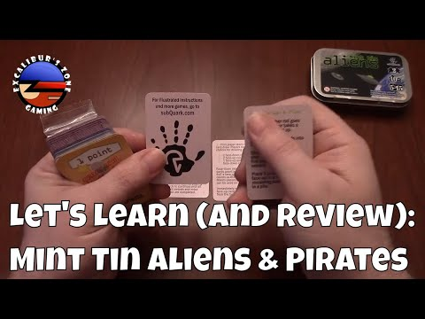 Boardgame Review & Let's Learn: Mint Tin Aliens & Mint Tin Pirates