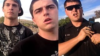 Cop RUNS from Citizen - Citizen Gives CHASE - Goons Arrive!