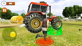 Blue Tractor Farming Simulator - Farmer Tractor Driver - Android Gameplay FHD