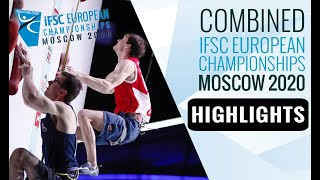 Combined Qualification highlights || 2020 IFSC European Championships in Moscow by International Federation of Sport Climbing