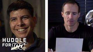Drew Brees Surprises Veteran with Letter of Support