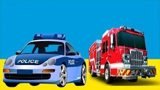 Мультики Про Цветные Машинки - Полицейская и Пожарная Машины - Развивающий Мультик Для Детей